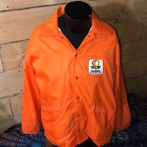 Vintage 1970-80s Sunkist OJ jacket.  Size L 44/46